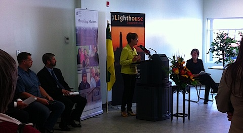 The Honourable June Draude speaking